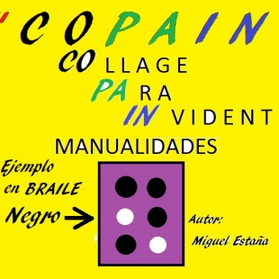 TALLER PARA INVIDENTES DE COLLAGE EN BRAILLE .